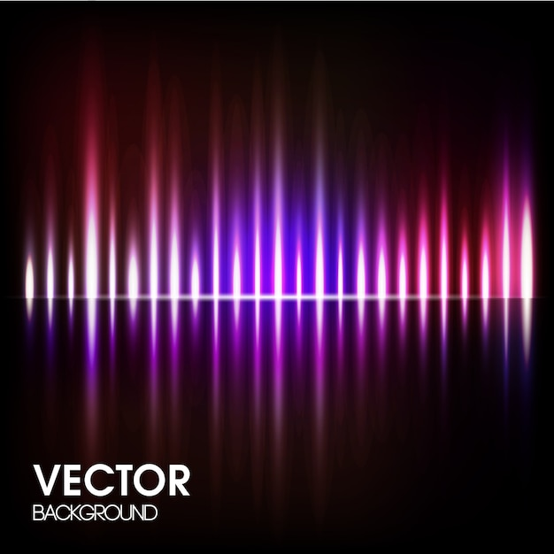 魔法の光と抽象的な背景。 無料ベクター