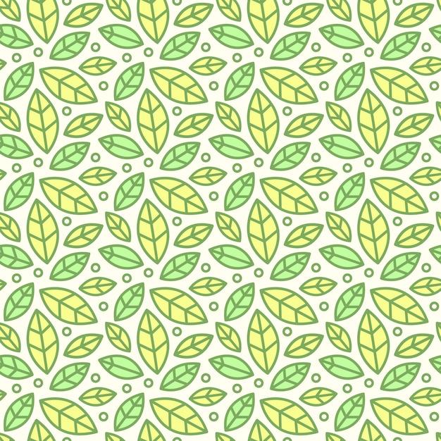 Бесшовные шаблон, фон с ручной обращается милые насекомые, цветы, листья Бесплатные векторы