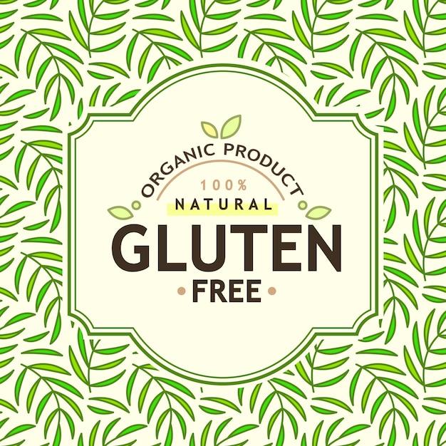 有機食品および天然製品 無料ベクター