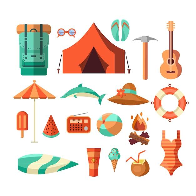 キャンピング荒野アドベンチャーバッジグラフィックデザインロゴエンブレム 無料ベクター