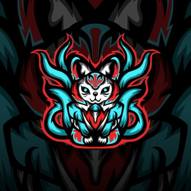 Логотип талисмана киберспорта Premium векторы