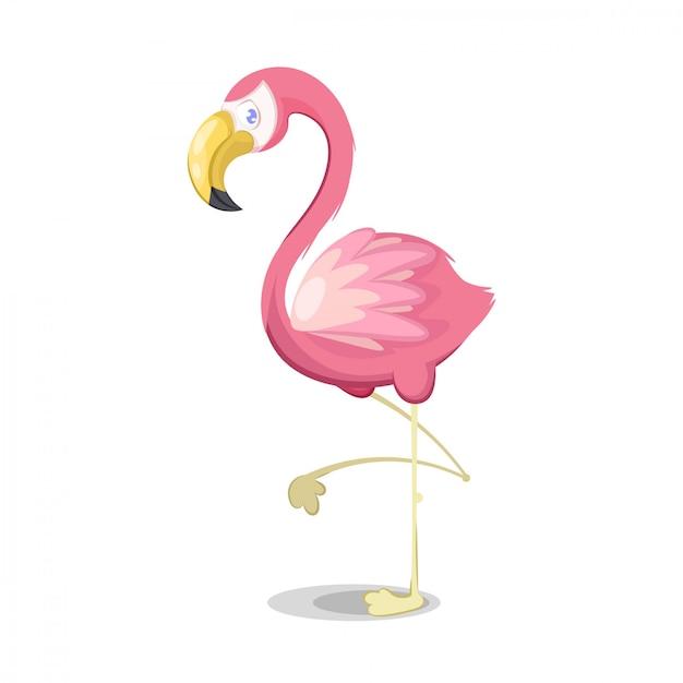 Иллюстрация розового фламинго Premium векторы