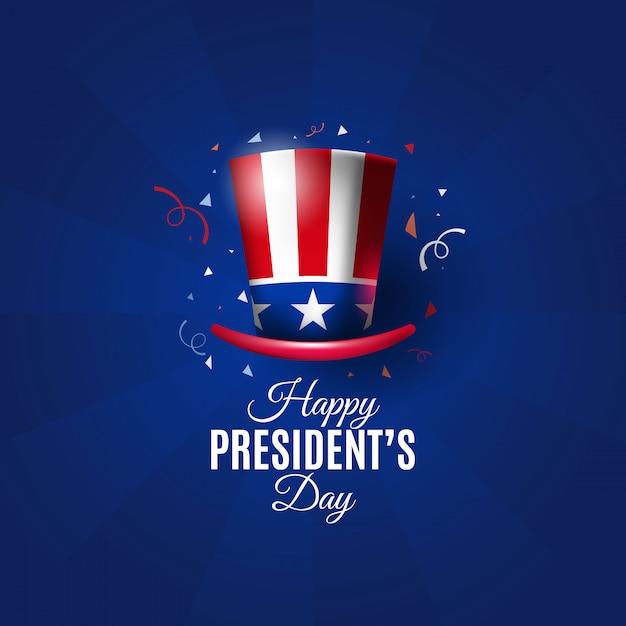 帽子とアメリカ大統領の日の背景 Premiumベクター
