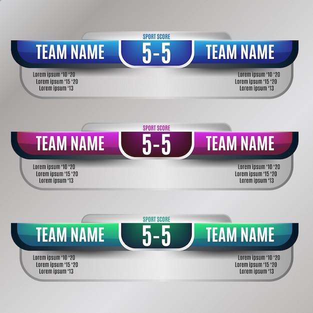 Дизайн табло для футбола и футбола Premium векторы