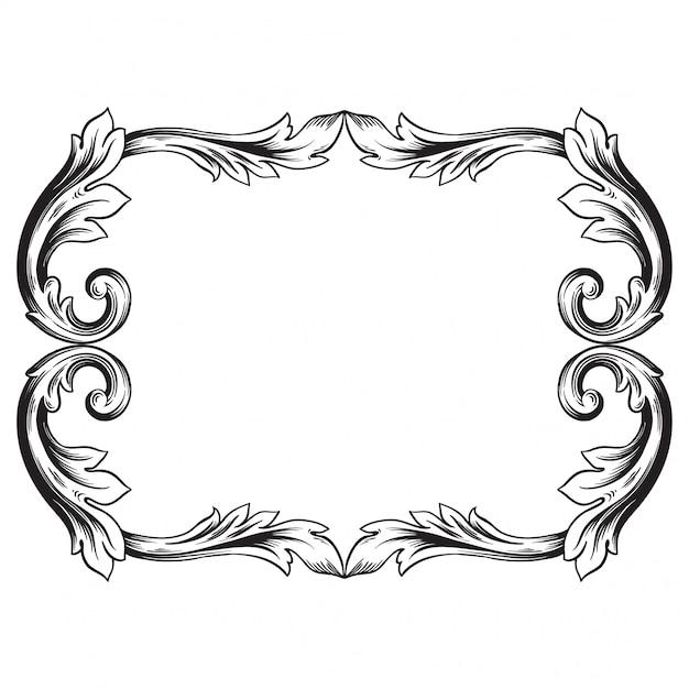 Барочный орнамент украсить Premium векторы