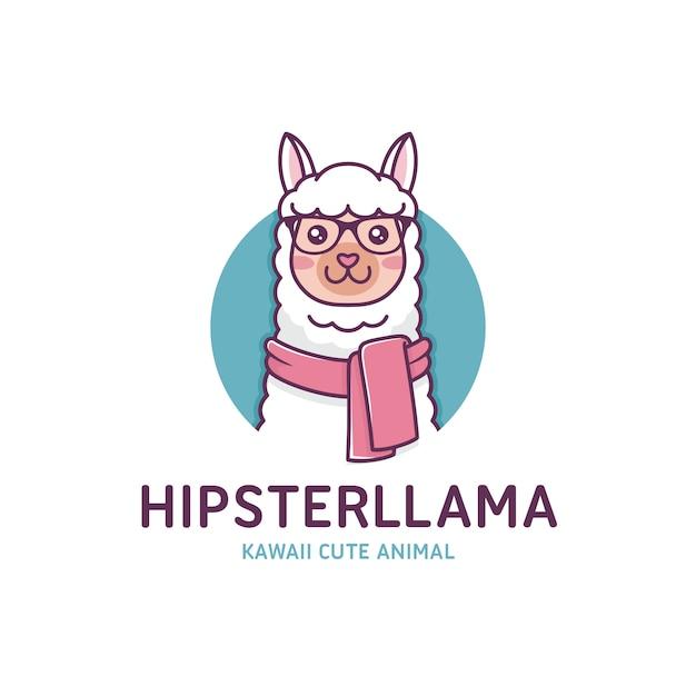 モダンなラマのロゴのテンプレート Premiumベクター