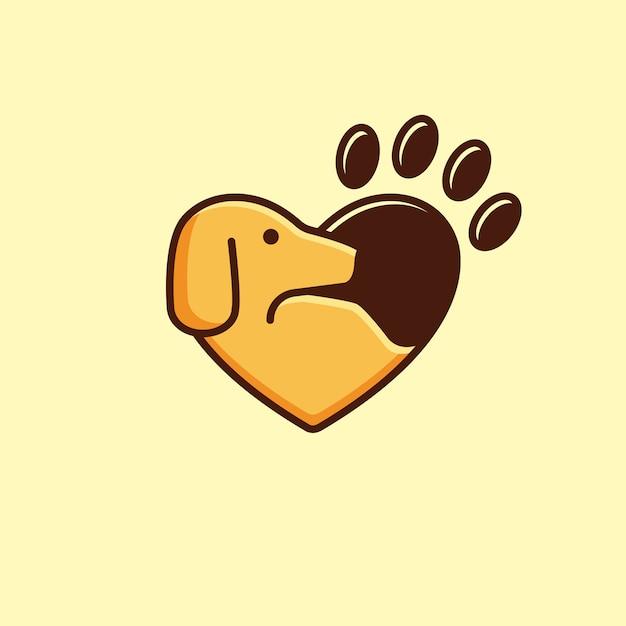愛の動物のロゴタイプ Premiumベクター