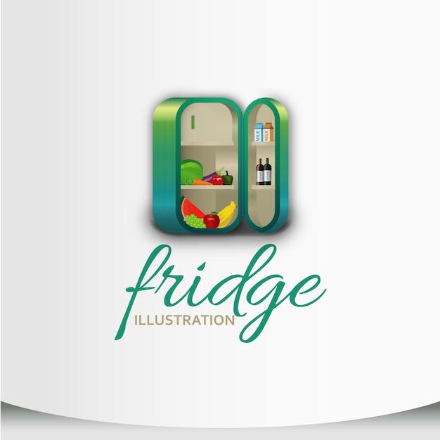 冷蔵庫のイラスト 無料ベクター