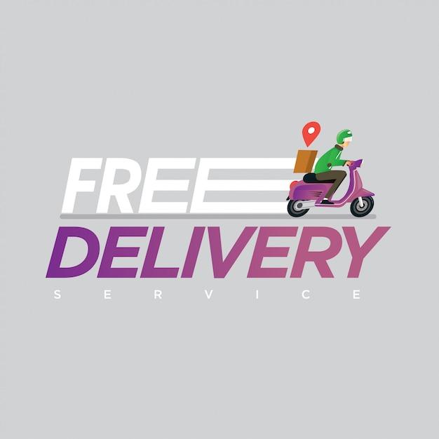 Иллюстрация концепции сервиса бесплатной доставки Premium векторы