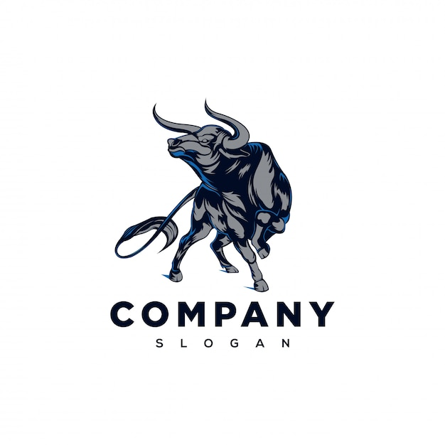 強い雄牛のロゴのインスピレーション Premiumベクター