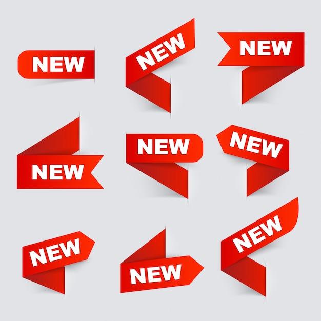 Знак новый. новые признаки. Premium векторы
