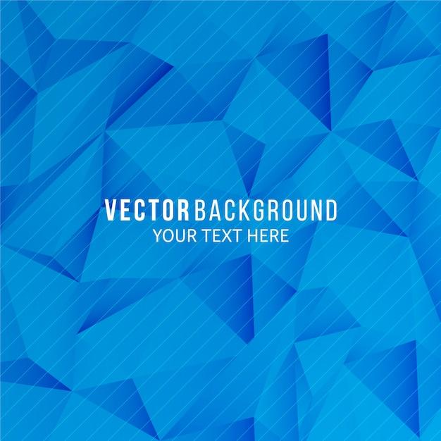 幾何学的なスタイルで抽象的な青い背景 Premiumベクター