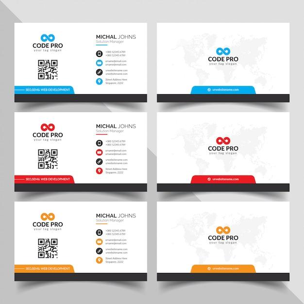 Элегантный шаблон визитной карточки Бесплатные векторы
