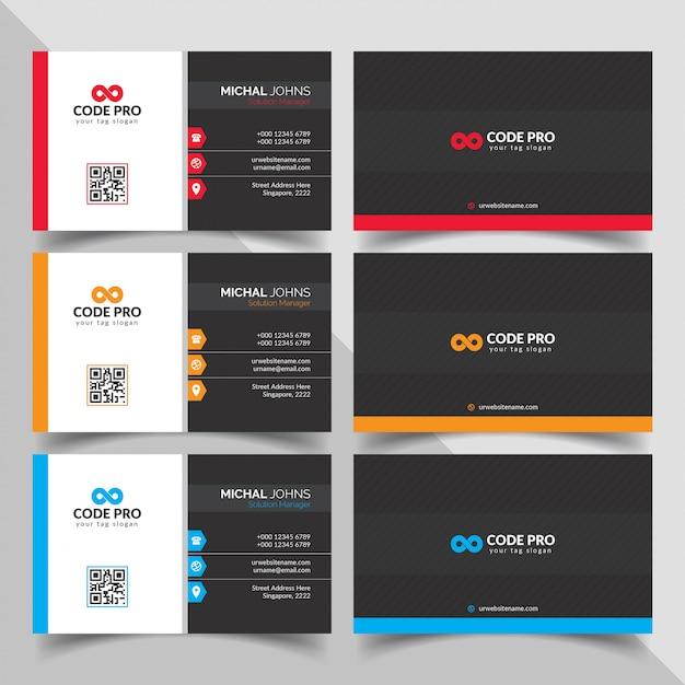 Современная визитная карточка Бесплатные векторы