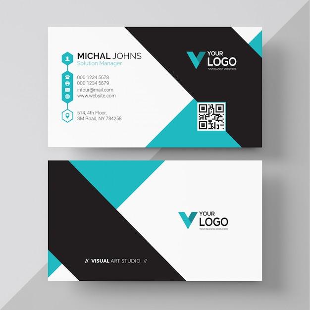 Современный дизайн корпоративных визитных карточек Бесплатные векторы