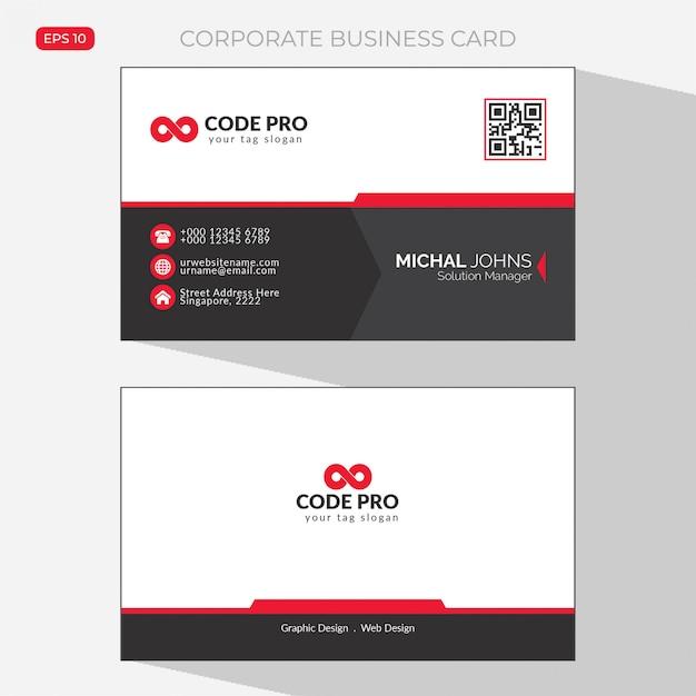 Корпоративная визитка Бесплатные векторы