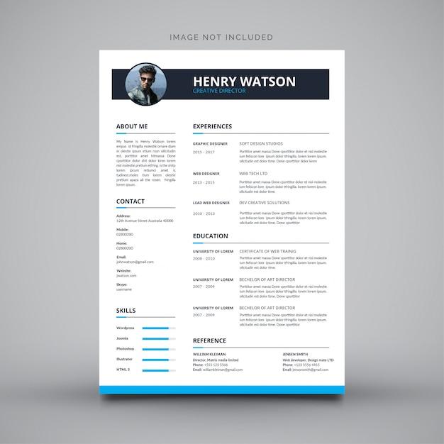 履歴書デザインの履歴書 無料ベクター