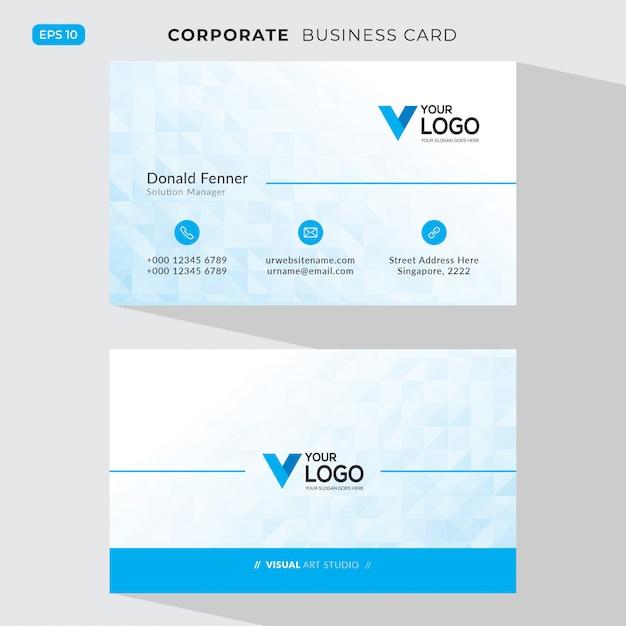 ブルーのエレガントなコーポレートカード 無料ベクター