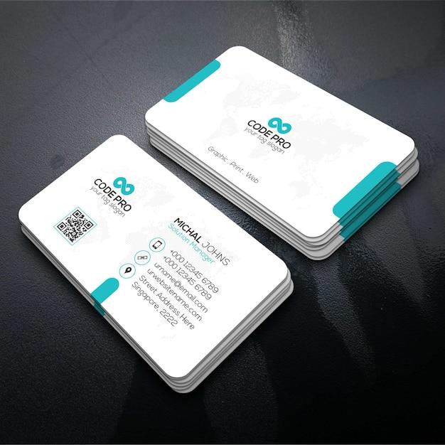 スタイリッシュな訪問カードのテンプレート Premiumベクター
