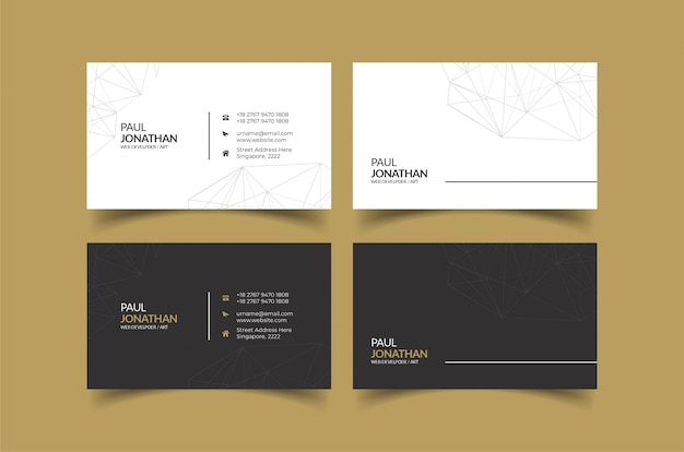 Шаблон визитки идеи для индивидуальности Premium векторы