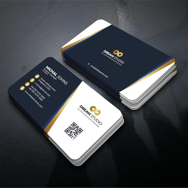 金の詳細とベクトルテンプレート訪問カード 無料ベクター