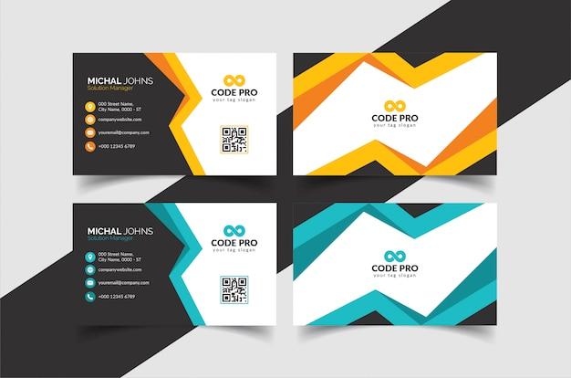 Креативная визитка Premium векторы