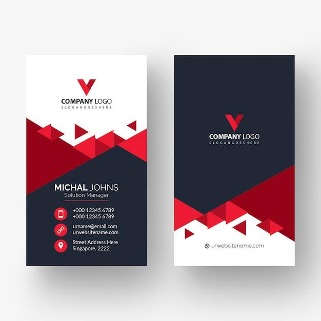 Красная форма визитная карточка Бесплатные векторы