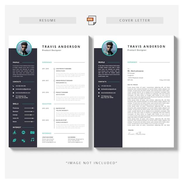 履歴書とカバーレター 無料ベクター