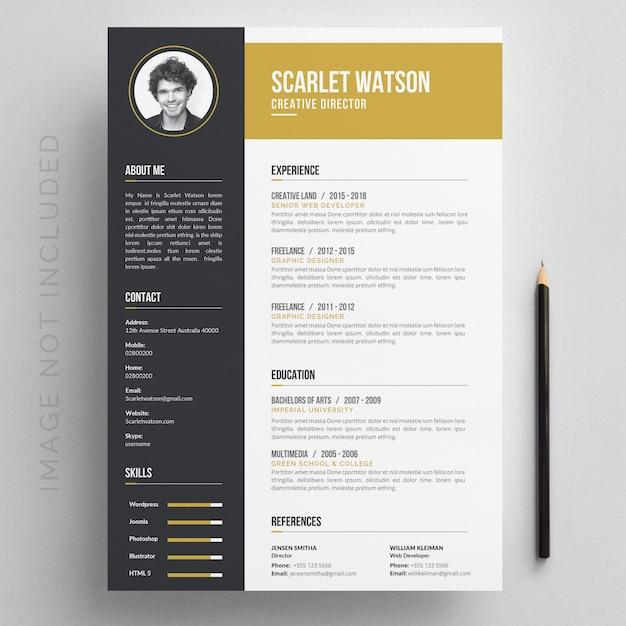 履歴書 Premiumベクター