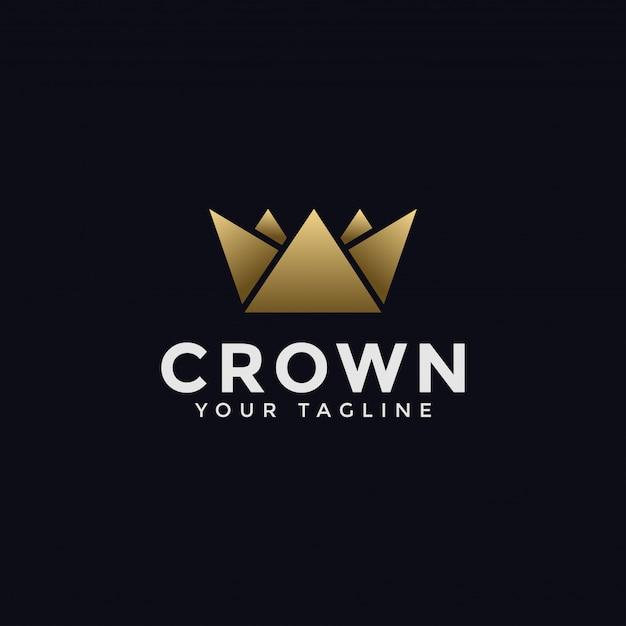 Шаблон логотипа абстрактный короны Premium векторы
