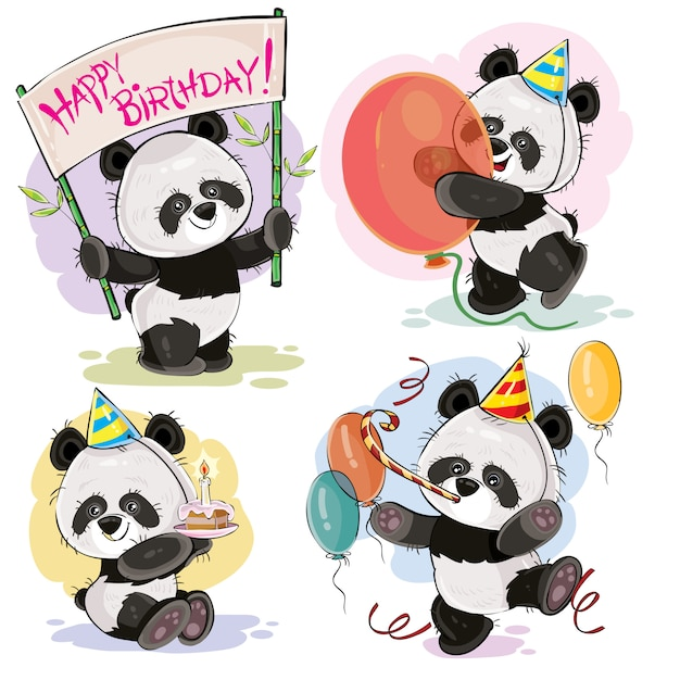 Открытки с днем рождения с пандой картинки, открытки юбилеем