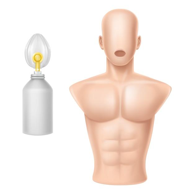 人工呼吸のための人体 無料ベクター