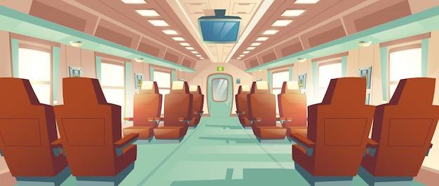 新幹線のキャビン、急行列車 無料ベクター