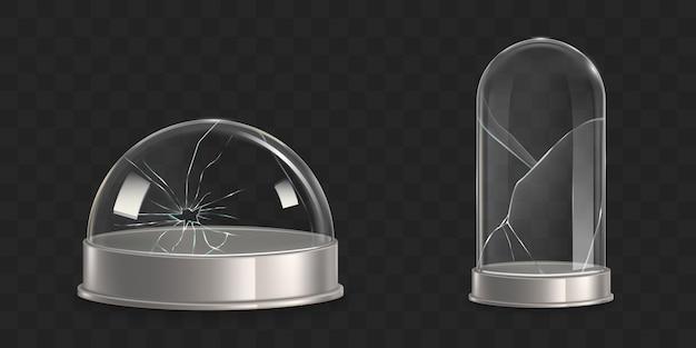壊れた水球、ガラスの鐘瓶現実的なベクトル 無料ベクター
