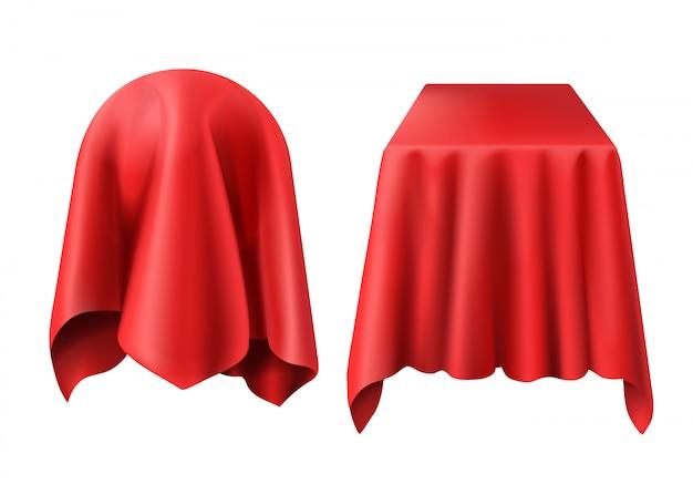 赤い布で覆われた球と箱 無料ベクター
