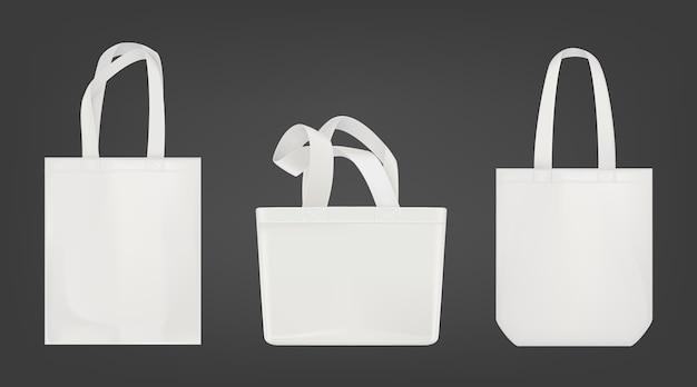 Белая сумка для покупок Бесплатные векторы