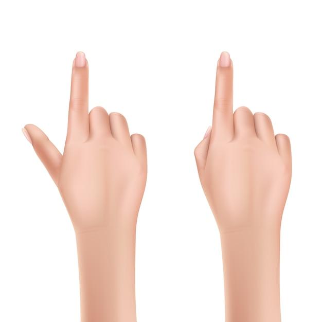 Человеческие векторные руки Бесплатные векторы