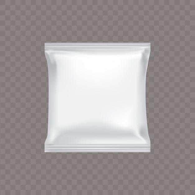 Белая квадратная пластиковая упаковка для пищевых продуктов Бесплатные векторы