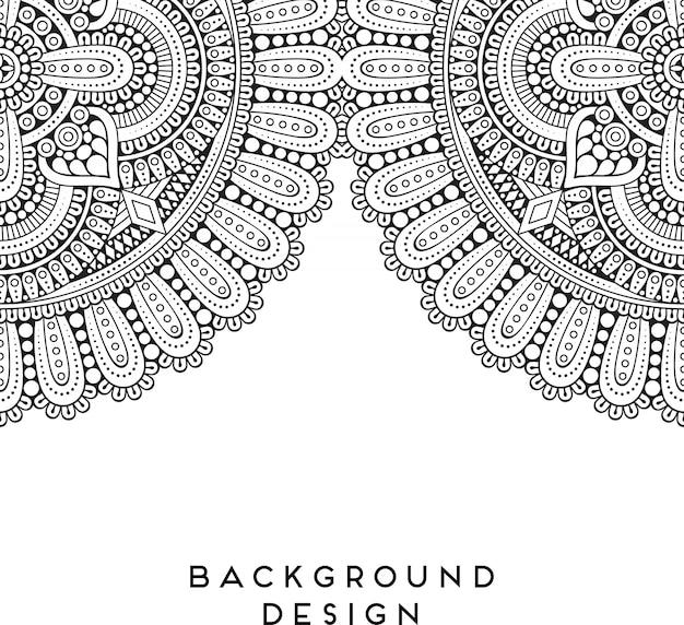 Роскошная декоративная иллюстрация мандалы Premium векторы
