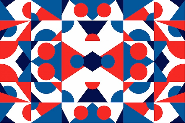 Фон мозаики красочные геометрические фигуры Premium векторы