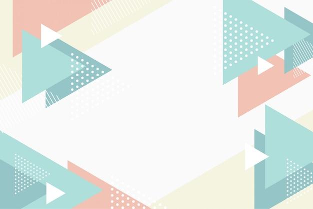 抽象的な平らな三角形の流れの背景 Premiumベクター