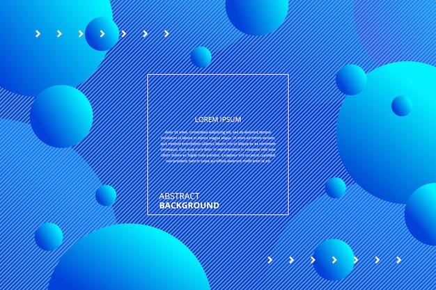 抽象的なグラデーションブルーサークル背景 Premiumベクター