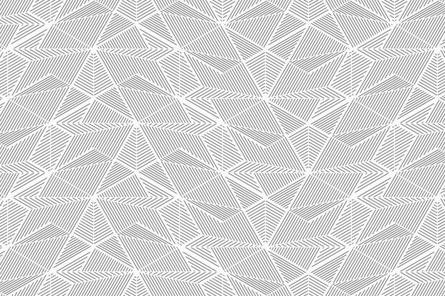 抽象的な幾何学的な線のシームレスパターン Premiumベクター