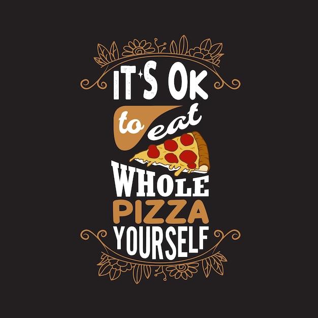 ピザ引用と言って。 Premiumベクター