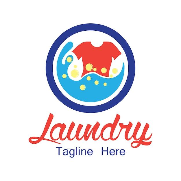 あなたのスローガンのためのテキストスペース付き洗濯ロゴ 無料ベクター