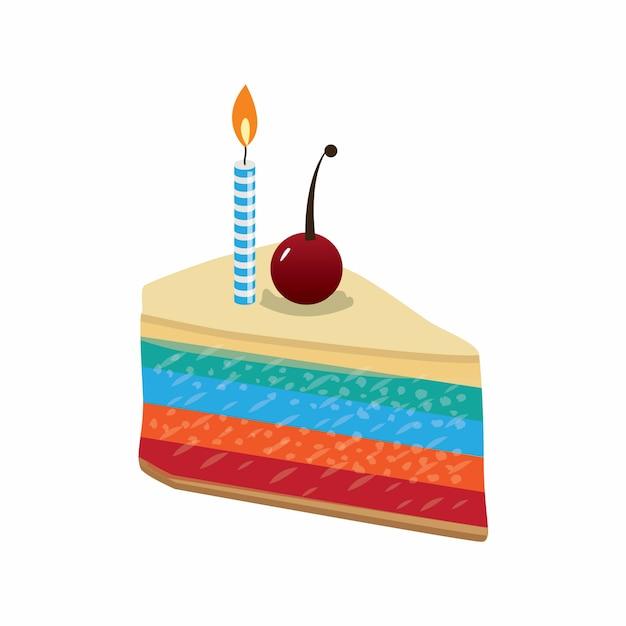 Картинки кусок торта со свечкой, открытку своей музыкой