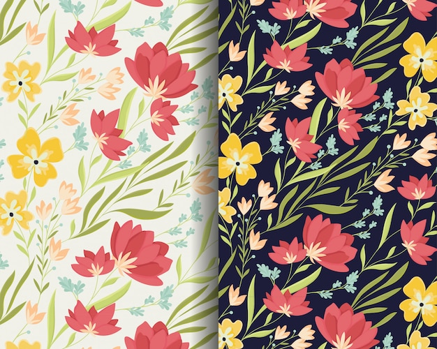 Красивые цветы лилии шаблон дизайна Premium векторы