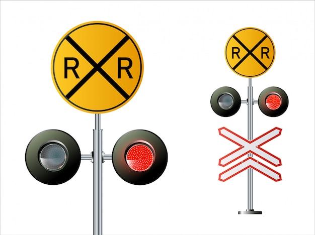 Семафор сигнальный трафик. Premium векторы