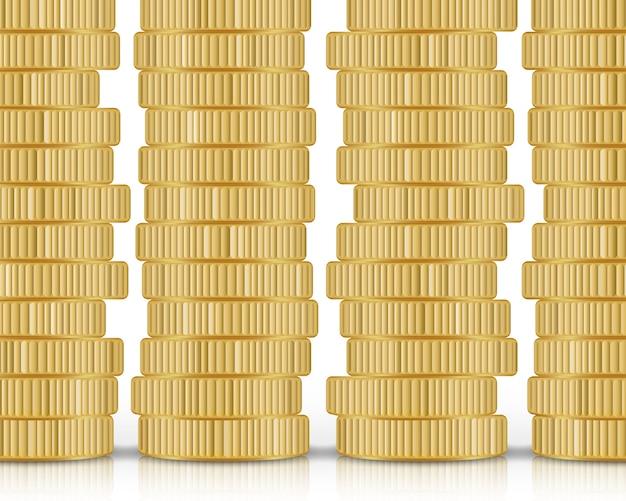 分離された黄金のコインスタック Premiumベクター