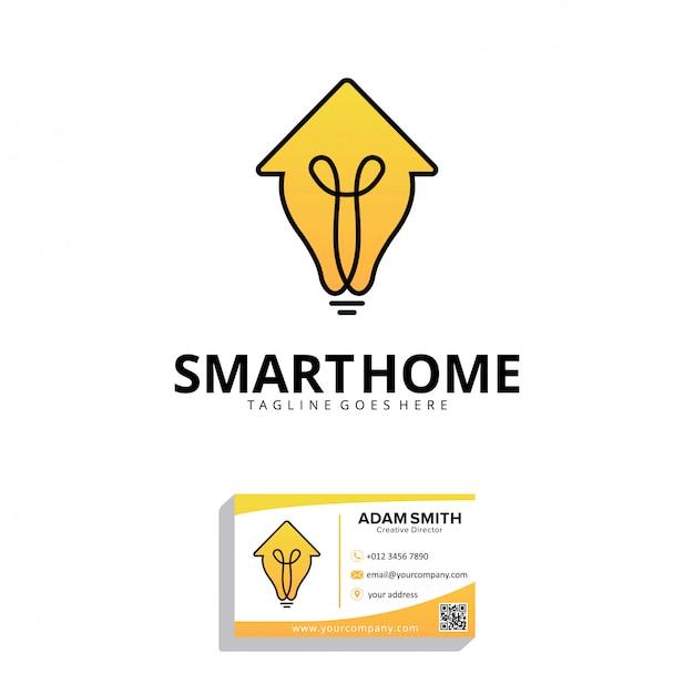 Шаблон дизайна логотипа умный дом Premium векторы